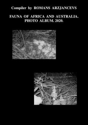 Fauna ofAfrica andAustralia. Photo Album–2020 фото №1