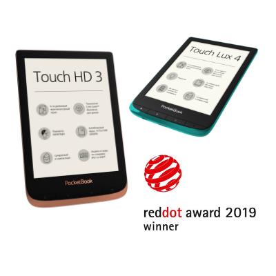 Кращий дизайн за версією Red Dot – відзначені два рідери PocketBook