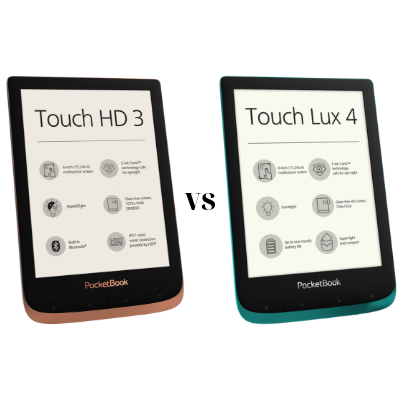 PocketBook Touch HD 3 vs PocketBook Touch Lux 4: яку модель вибрати?